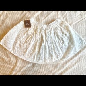 Tea Collection Eyelet Lace Crochet Skirt White New